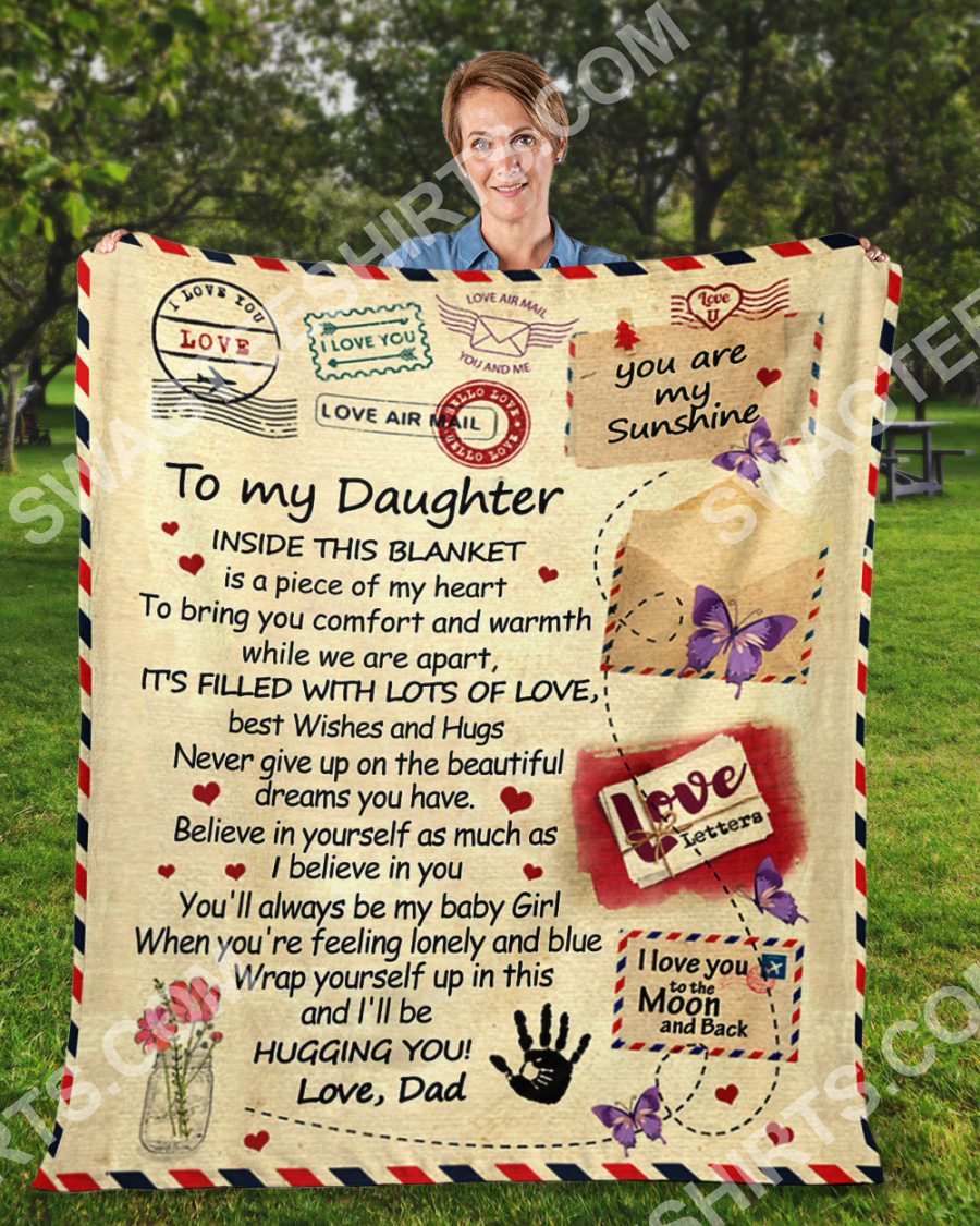 air mail to my daughter ill be hugging you your dad full printing blanket 3(1)