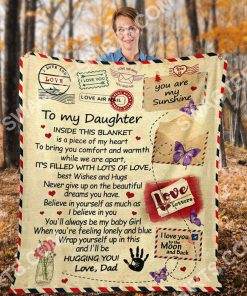 air mail to my daughter ill be hugging you your dad full printing blanket 4(1)