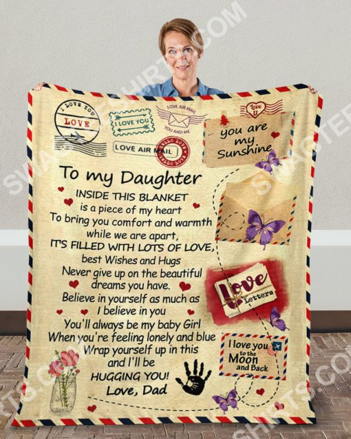 air mail to my daughter ill be hugging you your dad full printing blanket 5(1)