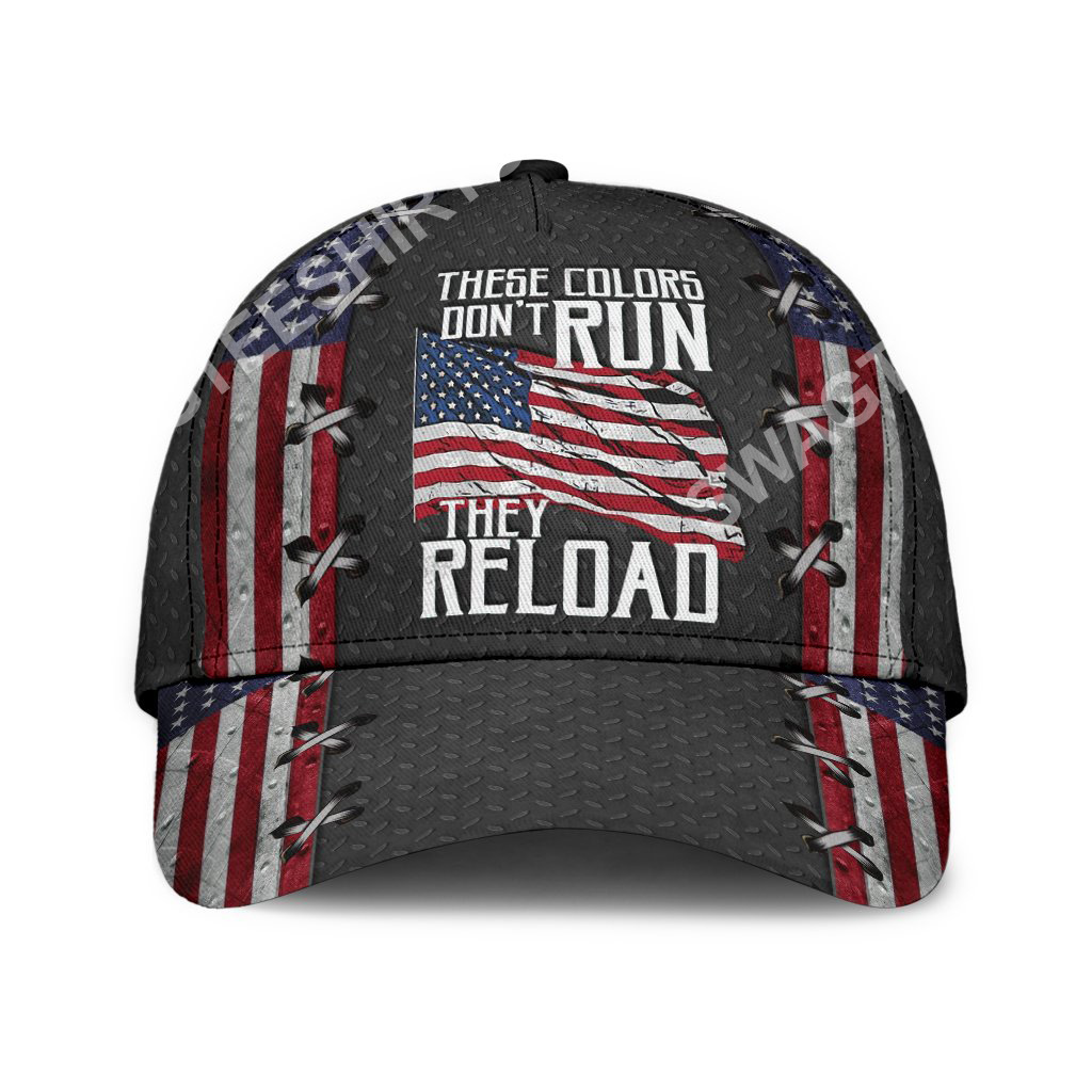 america flag these colors don't run they reload classic cap 2(1)