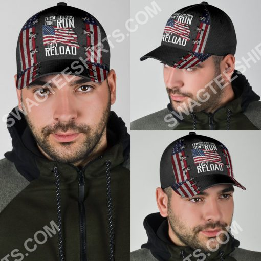 america flag these colors don't run they reload classic cap 4(1)
