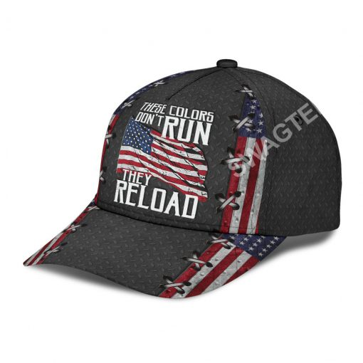 america flag these colors don't run they reload classic cap 5(1)