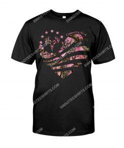 american flag country girl deer hunter shirt 1(1)