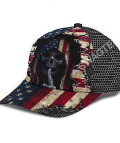 american flag skull crack all over printed cap 4(1)