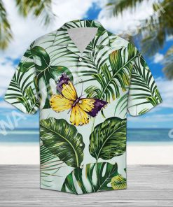 butterfly and palm all over printed hawaiian shirt 2(1)