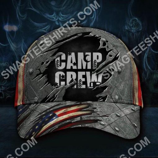 camp crew camping gift all over printed classic cap 2(1)