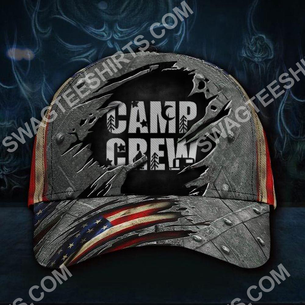 camp crew camping gift all over printed classic cap 2(2) - Copy