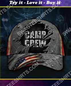 camp crew camping gift all over printed classic cap