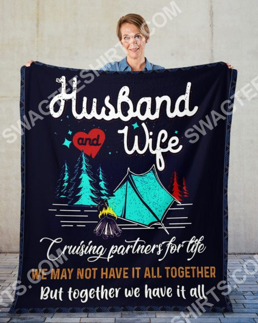 camping husband and wife together we have it all full printing blanket 2(1)