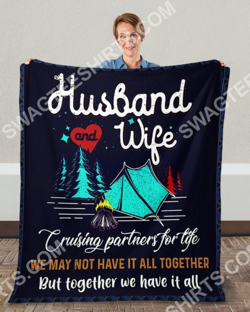 camping husband and wife together we have it all full printing blanket 4(1)