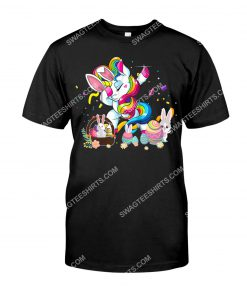 dabbing unicorn and bunny eggs easter day shirt 1(1)