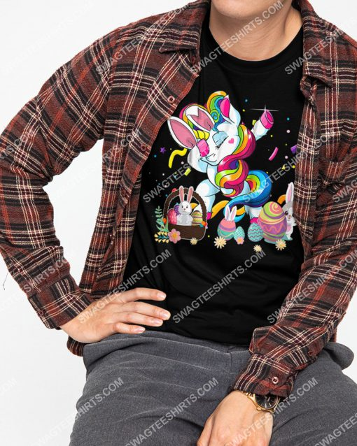 dabbing unicorn and bunny eggs easter day shirt 2(1) - Copy