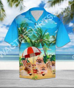 dog pomeranian all over printed hawaiian shirt 3(1)