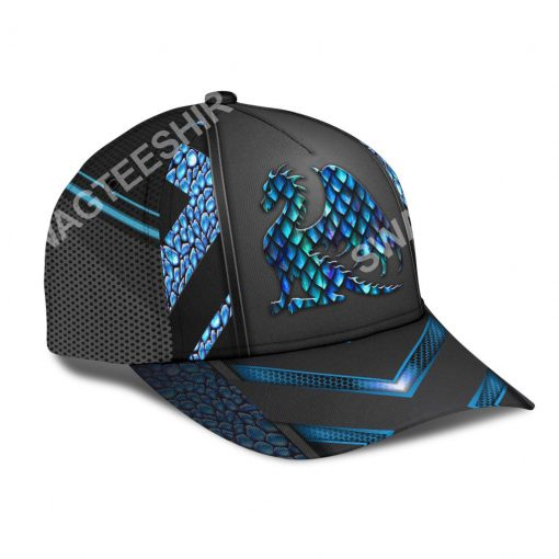 dragon blue pattern all over printed classic cap 3(1)