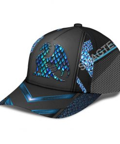 dragon blue pattern all over printed classic cap 4(1)