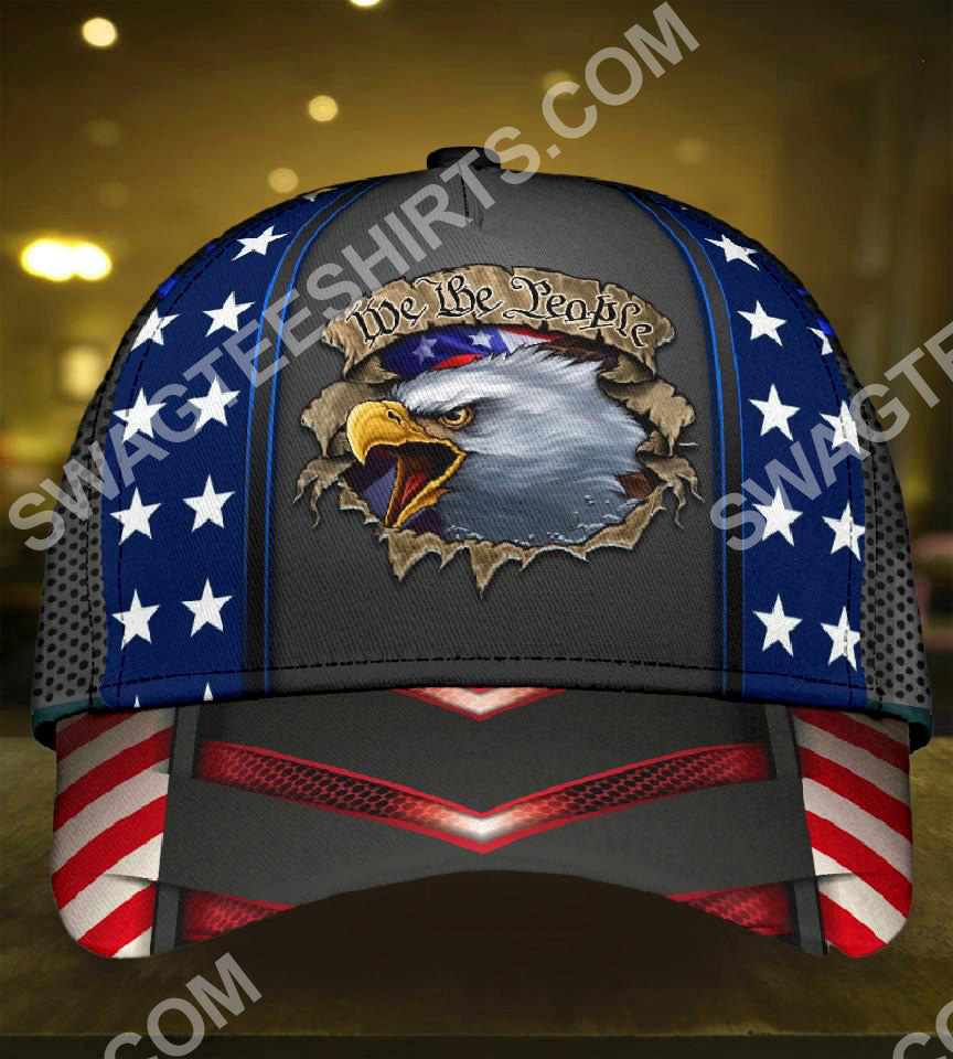 eagle we the people america flag all over printed classic cap 2(1)