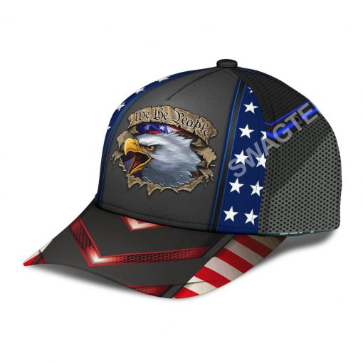 eagle we the people america flag all over printed classic cap 4(1)