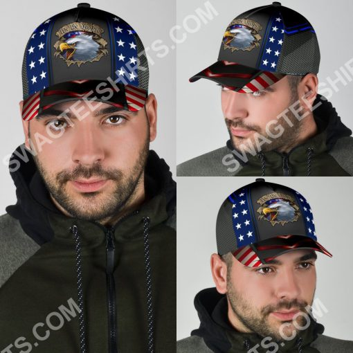 eagle we the people america flag all over printed classic cap 5(1)