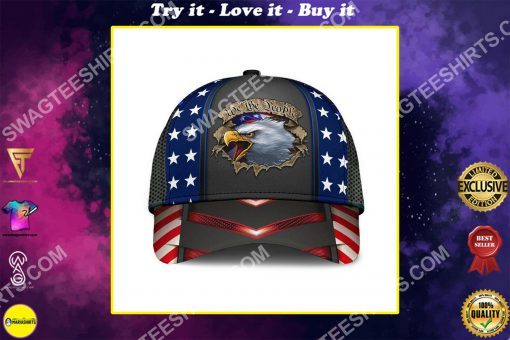 eagle we the people america flag all over printed classic cap