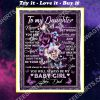 flower to my daughter you will always my baby girl full printing blanket
