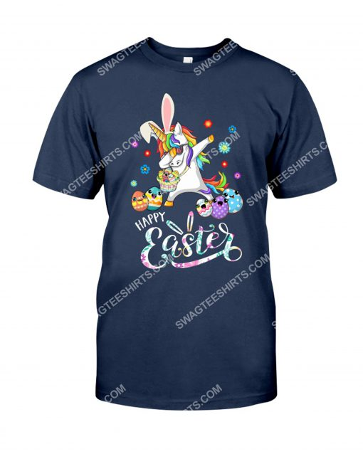 happy easter day unicorn dabbing with easter egg shirt 1(1)