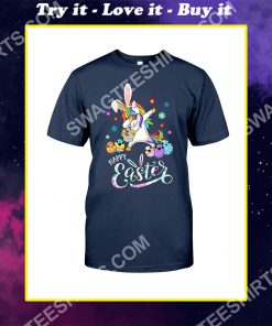 happy easter day unicorn dabbing with easter egg shirt