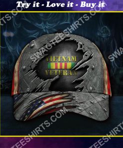 honoring military vietnam veteran all over printed classic cap