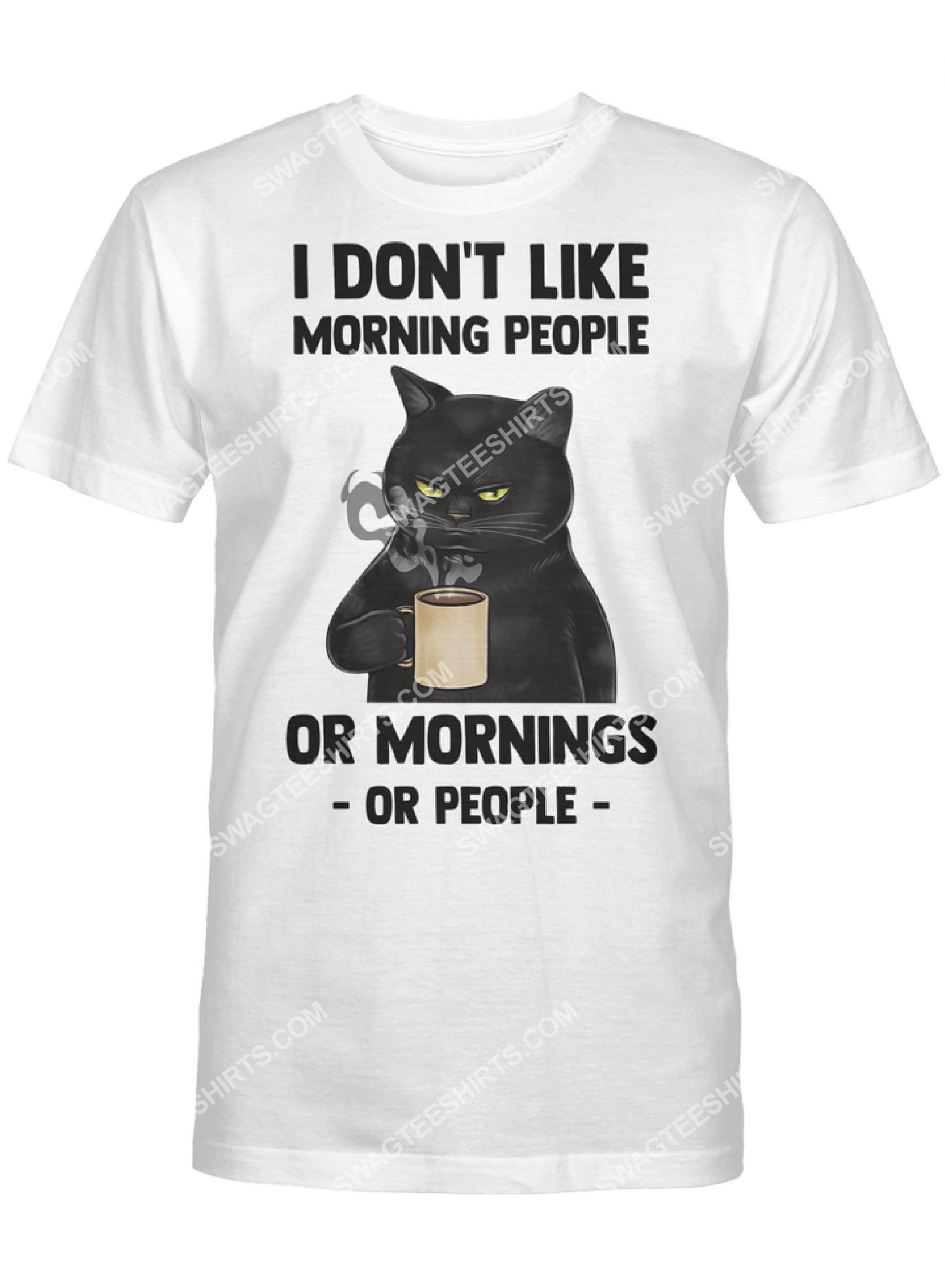 i don't like morning people black cat coffee shirt 2(1)