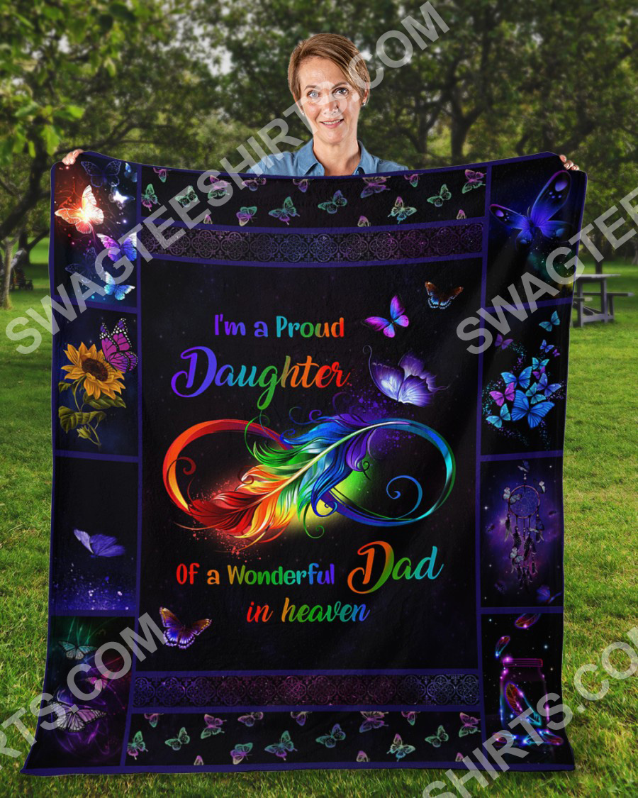 i'm a proud daughter of a wonderful dad in heaven colorful full printing blanket 3(1)