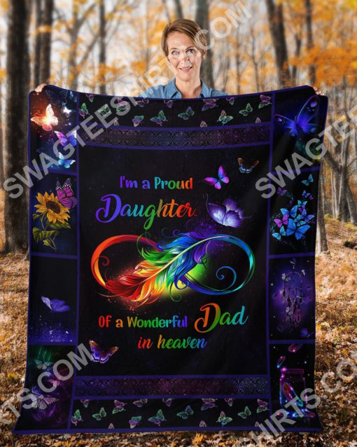i'm a proud daughter of a wonderful dad in heaven colorful full printing blanket 4(1)