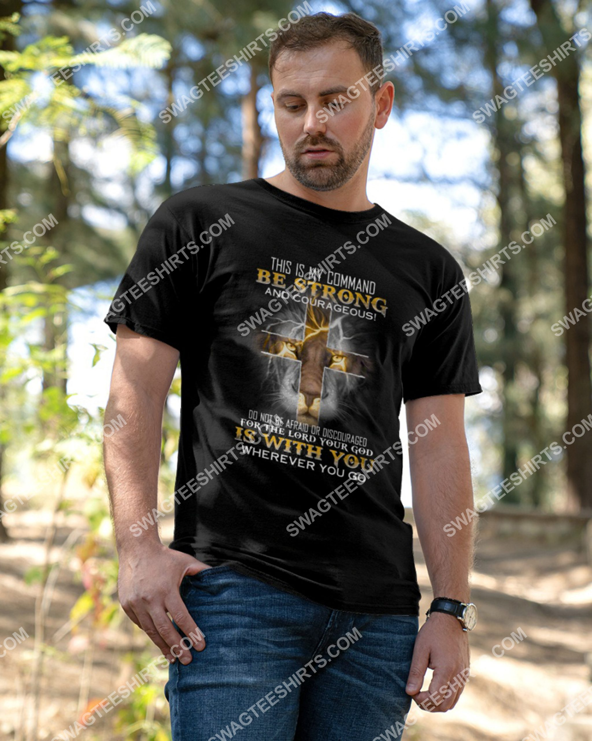 lion for the lord your god is with you wherever you go shirt 3(1)