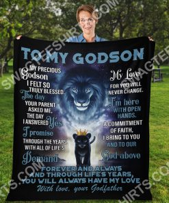 lion to my Godson with love your Godfather full printing blanket 3(1)