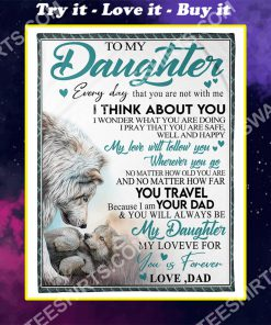 lion to my daughter my love for you is forever full printing blanket