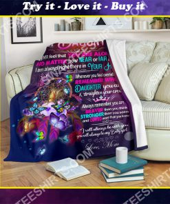 night butterfly to my daughter i love you your mom full printing blanket