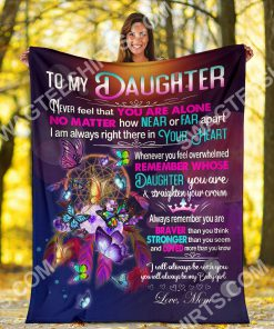 night butterfly to my daughter i love you your mom full printing blanket 5(1)