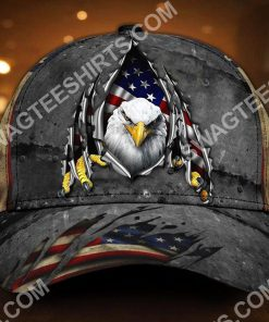 patriotic bald eagle america flag all over printed classic cap 2(1) - Copy
