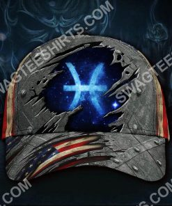 pisces zodiac america flag all over printed classic cap 2(3) - Copy