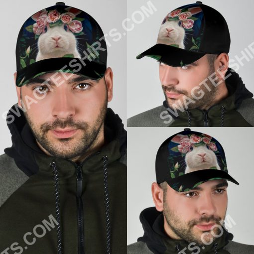 rabbit lovers bunny floral it all over printed cap 5(1)