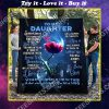 rose to my daughter i love you my baby girl full printing blanket