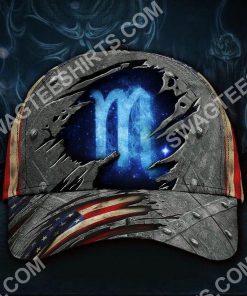 scorpion zodiac america flag all over printed classic cap 2(3) - Copy