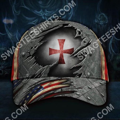 the knights templar all over printed classic cap 2(1)