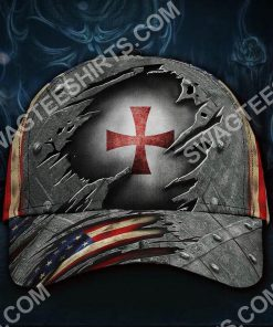 the knights templar all over printed classic cap 2(2) - Copy