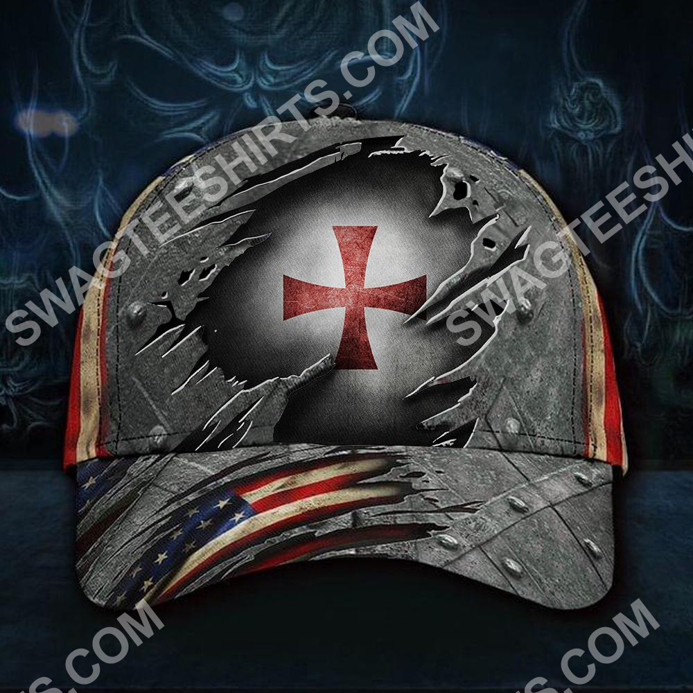 the knights templar all over printed classic cap 2(3) - Copy