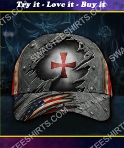 the knights templar all over printed classic cap