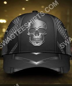 the skull metal all over printed classic cap 2(1)