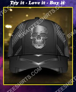 the skull metal all over printed classic cap