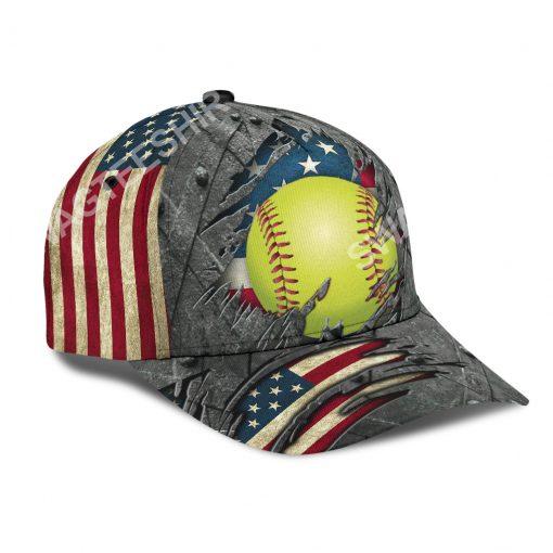 the softball crack america flag classic cap 3(1)