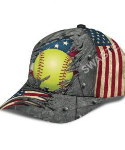 the softball crack america flag classic cap 4(1)