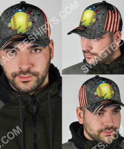 the softball crack america flag classic cap 5(1)