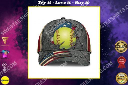 the softball crack america flag classic cap